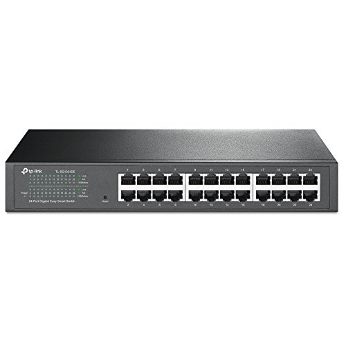 TP-Link TL-SG1024DE 24-Port Desktop Gigabit Easy-Smart Ethernet Switch, Steel Case, 13 Inch Rack-Mount from TP-Link