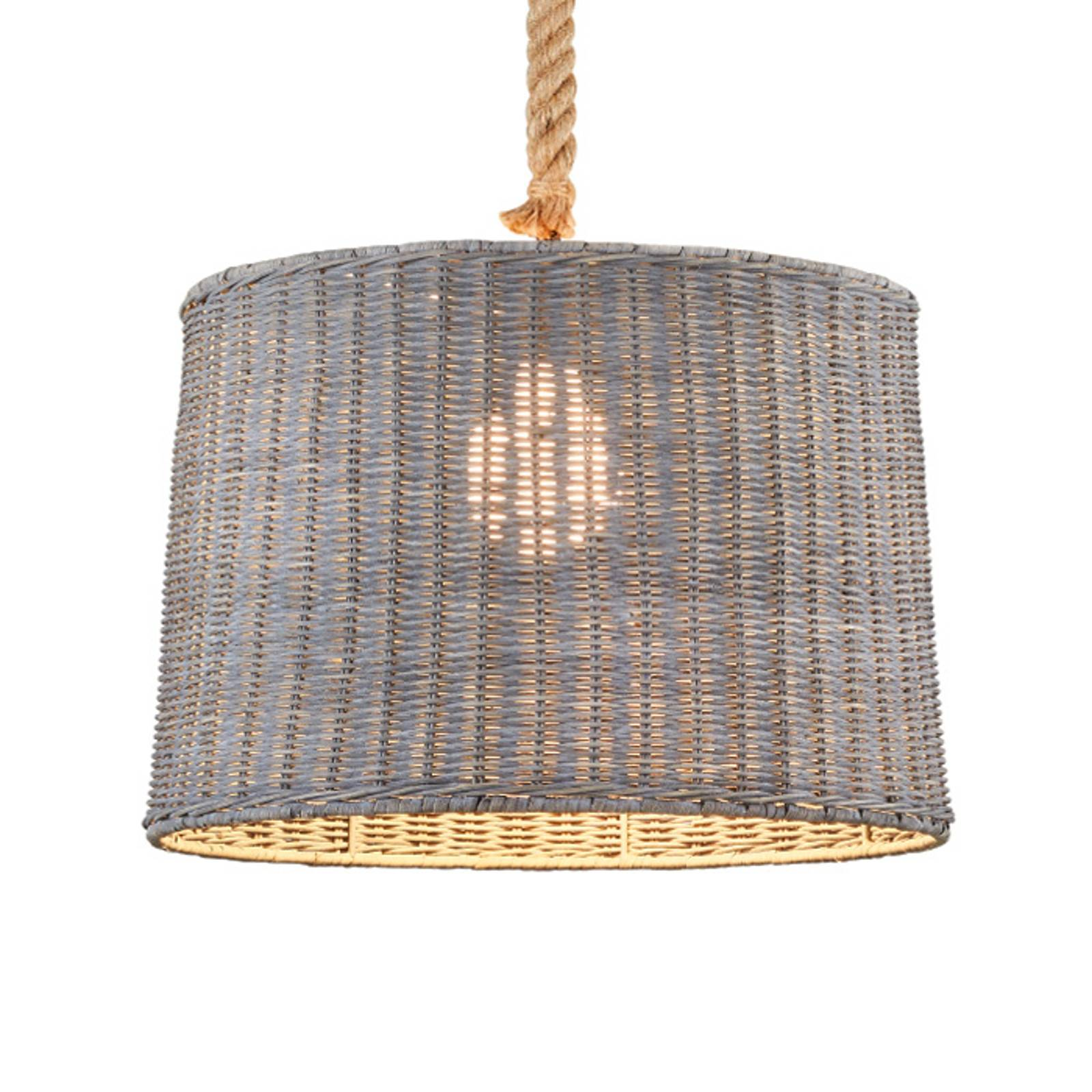 Rattan lampshade Pendant lamp Rotin one-bulb from Trio Lighting