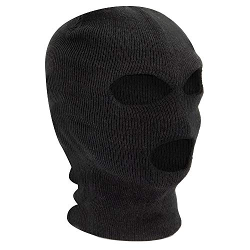 Black Balaclava - SAS Style 3 Hole Mask - Neck Warmer - Ski Mask - Paintball - Fishing - By TRIXES from TRIXES