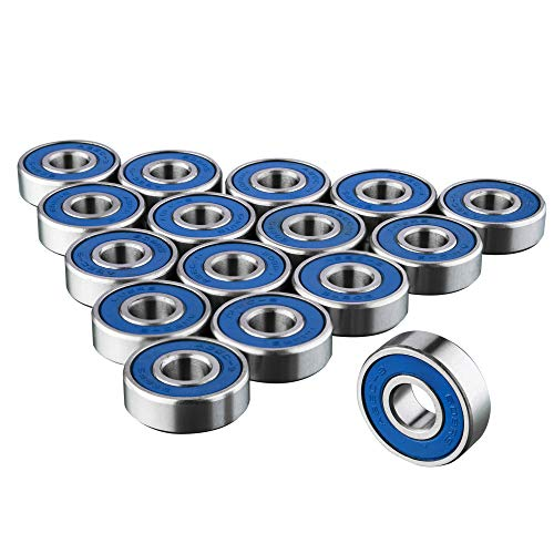 TRIXES 16x Bearings 608RS Frictionless Abec 9 Skateboard Roller Bearing for Skate boards and Fidget Spinner from TRIXES