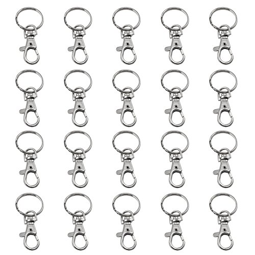 TRIXES 20 X Small Lobster Detachable Swivel Clasps for Key Split Ring Craft Hobby Jewelry from TRIXES