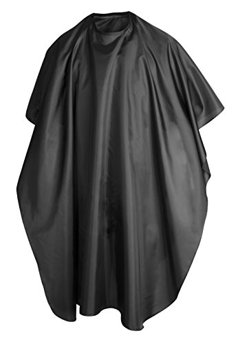 TRIXES Black Full Length Cape Unisex Professional Hairdressers Gown for Hair Styling Cuts and Colours from TRIXES