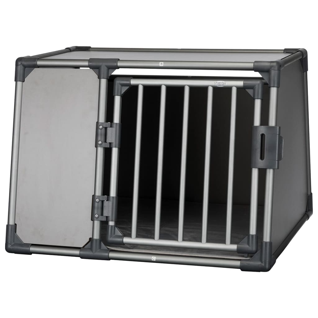 TRIXIE Sloping Dog Transport Cage Size L Aluminium Graphite 39338 from TRIXIE