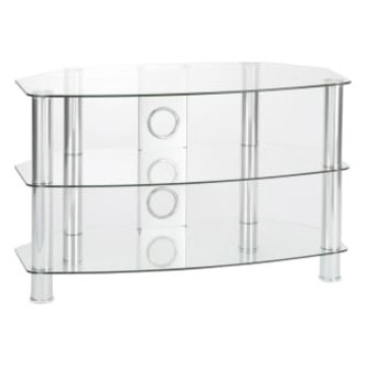TTAP C303C 12003C Vantage Curve 1200mm TV Stand in Chrome Clear Glass from TTAP