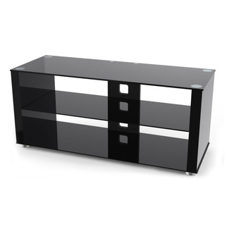 TTAP L611G 1200 3 Elegance 1200mm TV Stand in Gloss Black Black Glass from TTAP