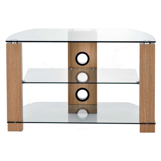 TTAP L630 1050 3O Vision 1050mm TV Stand in Light Oak with Clear Glass from TTAP