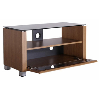 TTAP L642 1250 3O Elegance 1250mm TV Stand in Light Oak with Tinted Gl from TTAP