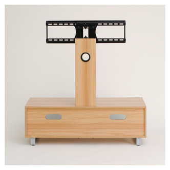 TTAP TVS1001 Munich 1050mm TV Stand in Light Oak VESA Swivel Bracket from TTAP