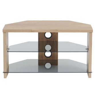 TTAP TVS1004 Montreal 1050mm TV Stand in Light Oak with Tinted Glass from TTAP