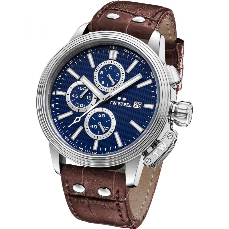 Mens TW Steel Adesso Chronograph 45mm Watch from TW Steel