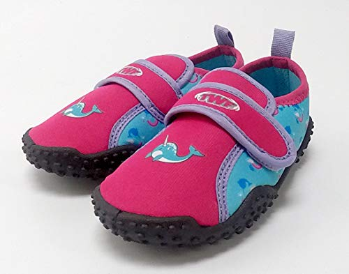 TWF ADULT WEEVER BEACH SHOES blue pink surf 6 7 8 9 10 11 12