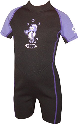 TWF Kids Seahorse Wetsuit - Lilac, 2 (Manufacturer Size: K06) from TWF