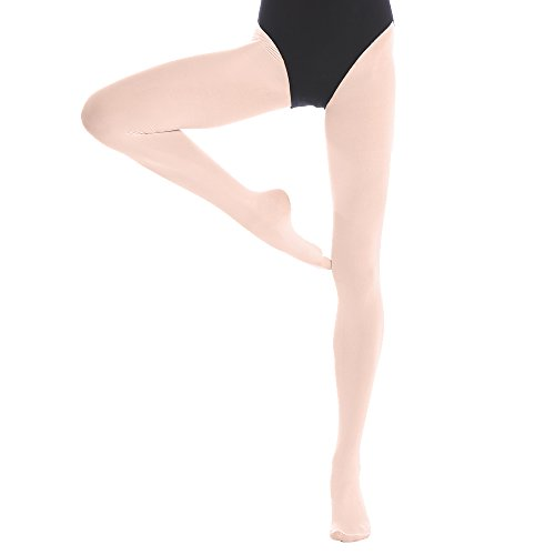Bezioner Footed Ballet Dance Tights for Kids Girls Women 1 pair Pink S from Bezioner