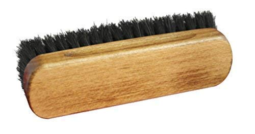 Premium Horsehair Shoe Polishing Buffing Brushes for boots & Shoes (medium, Black) from TZ Laces