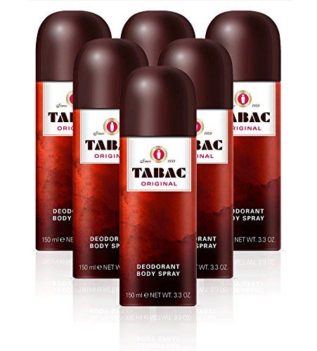 TABAC Original Deodorant Body Spray, 150 ml - Pack of 6 from Tabac