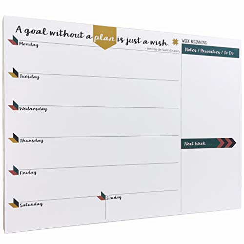 Tabitha Wilde A4 Weekly Planner Calendar Notepad 55 Sheets from Tabitha Wilde