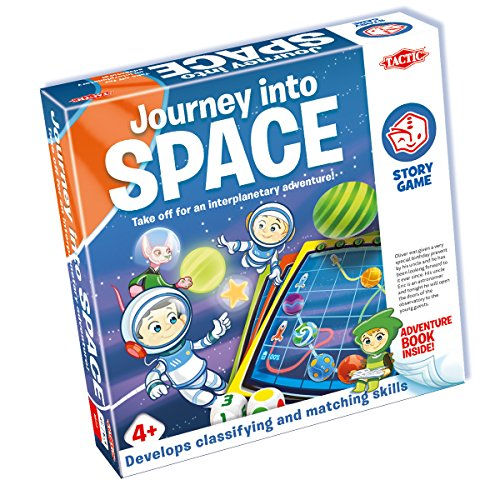 Tactic 54881 Journey Into Space Book & Game-Easy Simple Fun for The Young – Read The Story, Play The Game from Tactic