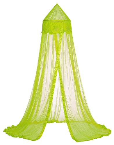 Taftan Beads Flower Mosquito Net for Crib Till 1 Persons Bed (Lime) from Taftan