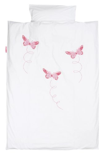 Taftan Butterfly Duvet Cover Set 100 x 135cm for Cot (Pink) from Taftan