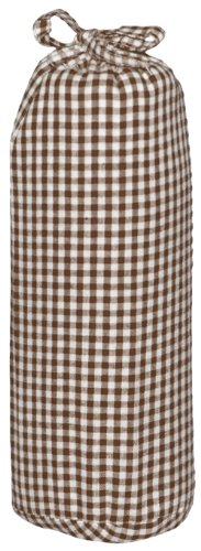 Taftan Checks 3mm Fitted Sheet (Small, Brown) from Taftan