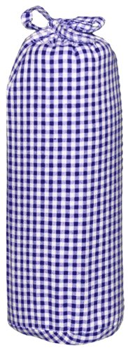 Taftan Checks 3mm Fitted Sheet (Small, Dark Blue) from Taftan
