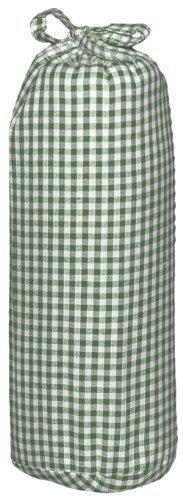 Taftan Checks 3mm Fitted Sheet (Small, Green) from Taftan