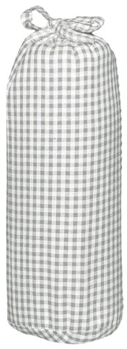 Taftan Checks 3mm Fitted Sheet (Small, Grey) from Taftan
