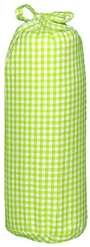 Taftan Checks 3mm Fitted Sheet (Small, Lime) from Taftan