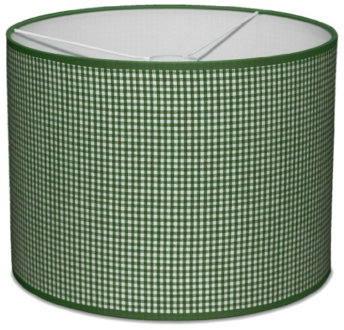 Taftan Checks 3mm Pendant Lampshade Diameter 35cm (Small, Green) from Taftan