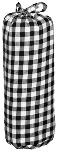 Taftan Checks 7mm Fitted Sheet (Big, Black) from Taftan