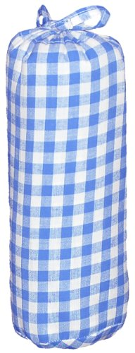 Taftan Checks 7mm Fitted Sheet (Big, Light Blue) from Taftan