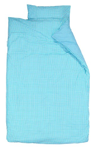 Taftan Checks Small/ Big Duvet Cover Set 100 x 135cm for Cot (Turquoise) from Taftan