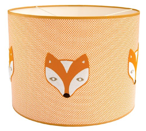 Taftan Fox and Raven Pendant Lampshade  (35 cm, Orange) from Taftan