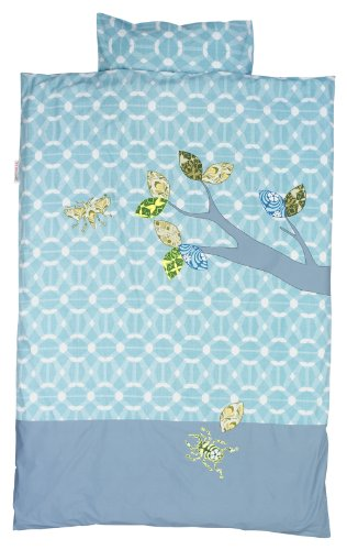 Taftan Inke and Taftan Duvet Cover Set 100 x 135cm for Cot (Blue Insects) from Taftan