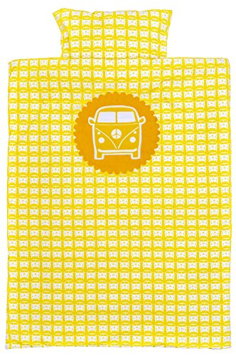 Taftan Little Van Duvet Cover with Pillow Case (Yellow) from Taftan