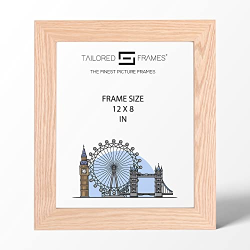 "Real Solid Natural Oak Wood Picture Photo and Poster Frames, (12"" x 8"") from Tailored Frames"