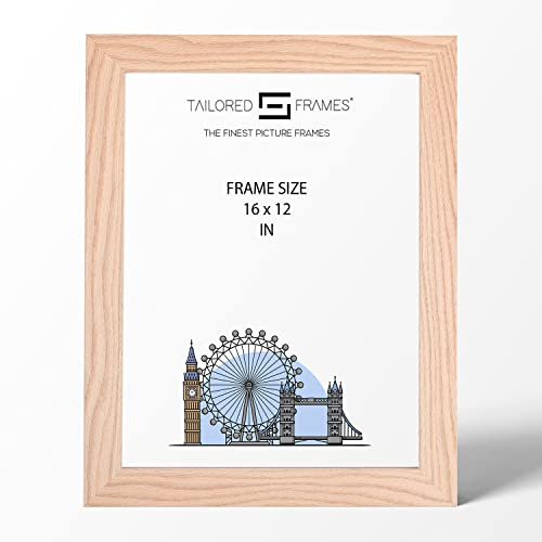 "Real Solid Natural Oak Wood Picture Photo and Poster Frames, (16"" x 12"") from Tailored Frames"