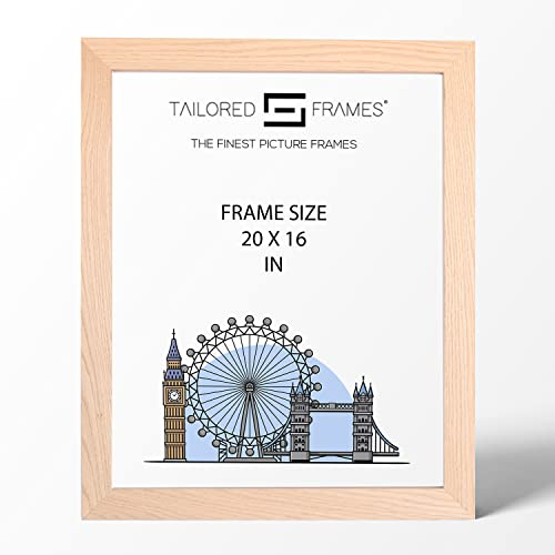 "Real Solid Natural Oak Wood Picture Photo and Poster Frames, (20"" x 16"") from Tailored Frames"