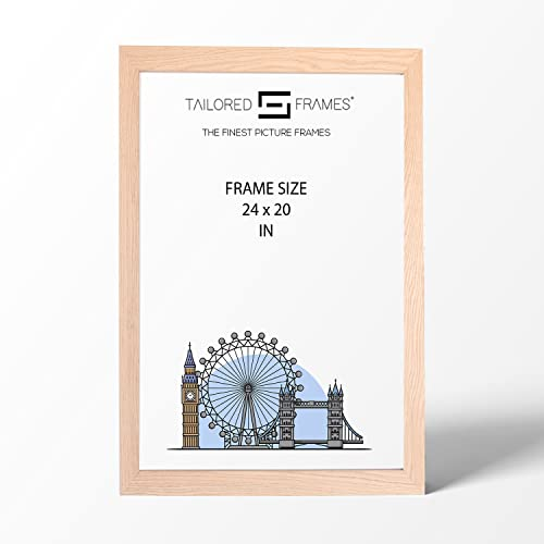 "Real Solid Natural Oak Wood Picture Photo and Poster Frames, (24"" x 20"") from Tailored Frames"