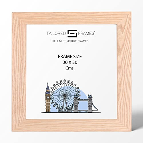 Real Solid Natural Oak Wood Picture Photo and Poster Frames, (30 x 30cm) from Tailored Frames