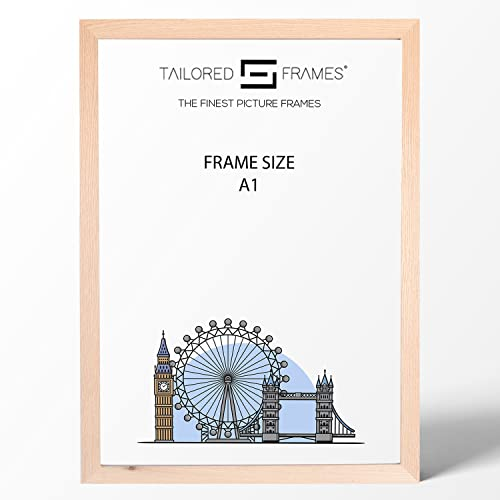 Real Solid Natural Oak Wood Picture Photo and Poster Frames, (A1) from Tailored Frames