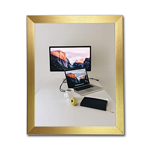 "Tailored Frames - Brushed Photo Picture Frames (Packs of 2) - Gold - 11"" x 8.5"" (U.S Letter) from Tailored Frames"