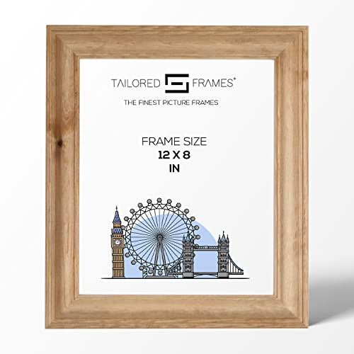 "Tailored Frames Solid Antique Pine Wooden Picture Frame | No 19 | Photo Frame 12"" x 8"" to Stand from Tailored Frames"