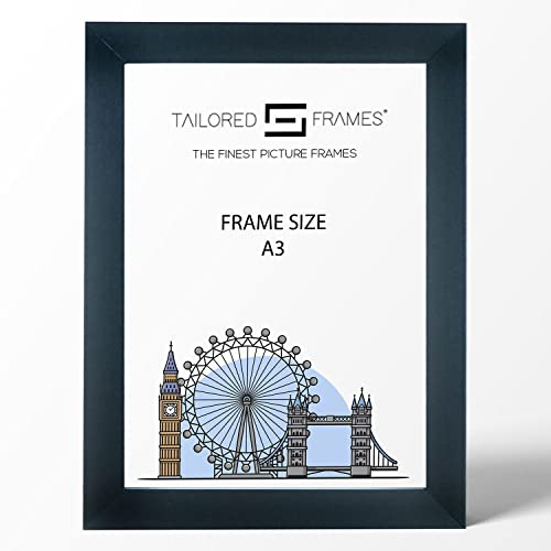 Tailored Frames Square Design MDF Picture and Photo Frames, Black, A3 (42 x 29.7cm) from Tailored Frames