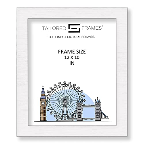 "Tailored Frames Square Design MDF Picture and Photo Frames, White, 12"" x 10"" from Tailored Frames"