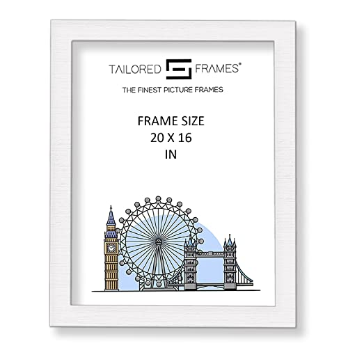 "Tailored Frames Square Design MDF Picture and Photo Frames, White, 20"" x 16"" from Tailored Frames"