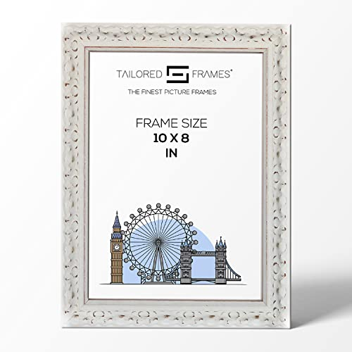 "Tailored Frames Vienna White Ornate Vintage Shabby Chic Picture Frames Wooden Photo Frames to Stand UK 10"" x 8"" from Tailored Frames"