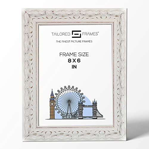 "Tailored Frames Vienna White Ornate Vintage Shabby Chic Picture Frames Wooden Photo Frames to Stand UK 8"" x 6"" from Tailored Frames"