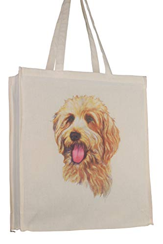Saint Bernard Cotton Shopping Bag Tote with Gusset for Xtra Space Perfect Gift
