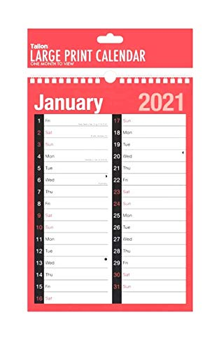 Tallon 3803 2019 Spiral Bound Month Wall Plan Calendar from Tallon